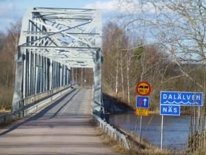 Fackverksbron över Dalälven i Näs